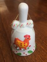 * vtg Jc Penny 12 Days Of Christmas Ornament Bell day 3 Three French Hens