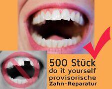 500 St. vorläufige ZAHN FÜLLUNG prov. Zahnersatz Reparatur teeth Granulat NEW