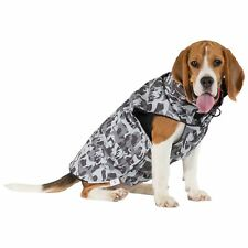 Trespaws Waterproof Dog Coat Camo Printed Dog Rain Jacket Inner Fleece Charly