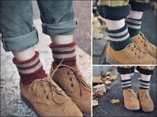 Ladies Winter Warm Bobby Retro Women's Loose Socks Woolen Stripes Socks