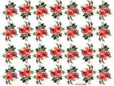 VinTaGe IMaGe CoLoRFuL SMaLL RoSe SpRaYs SHaBbY WaTerSLiDe DeCALs KnoBs HanGeRs