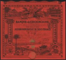1908 Indochina: Banque de Cochinchine