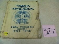 Yamaha RT1 DT1 RT3 DT3 Enduro 250 360 Used OEM Service Shop Manual #VP-MAN327
