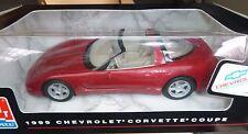AMT 1999 CHEVROLET CORVETTE COUPE PROMO 1/25 MODEL CAR MOUNTAIN RED 30155