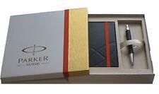 Parker 125  IM Premium Matte Black Ct Ballpoint Pen & Notebook New In Box