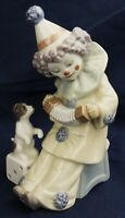 Lladro clown with dog PIERROT CONCERTINA model 5279 made 1985-2007