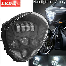 7'' LED Pprojector Headlight Fit Victory Cross Country Roads Vegas 8-Ball Hammer