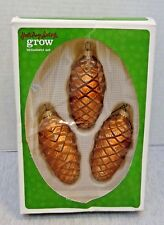 Holiday Living Grow Christmas Glass Ornament Set Made in Germany