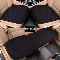 BLACK UNIVERSAL FULL/ FRONT+REAR CAR SEAT COVER PROTECTOR NON-SLIP CHAIR CUSHION