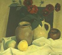 Signiert afro ? datiert Sept. 1951 - Stillleben mit Früchten Blumen und Vase