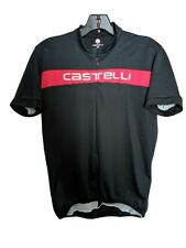 Castelli cycling jersey L Large black red