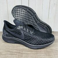 Nike Air Zoom Pegasus 35 Triple Black Men's Sz 9 Running Shoes 942851-002 W Box