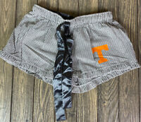 Boxercraft Womens Tennessee Vols Seersucker Pajama Shorts Size Small Gray White