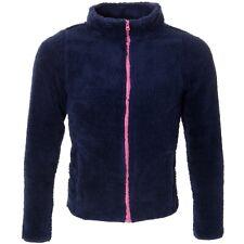 Womens Fleece Jacket Full Zip Plain Grey Or Blue Large Medium Small Work S M L