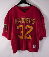 *** Raiders Sports Belle Jersey Vintage Vtg #32 Red Size L/ XL *F1018a3