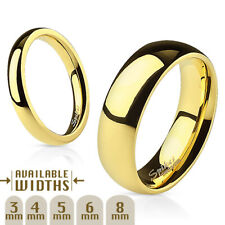 14kt Gold Color Stainless Steel Wedding Band Ring Free Shipping