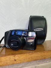 Retro SAMSUNG AF ZOOM 1050 35mm Compact Pellicola Macchina Fotografica con Custodia Borsa