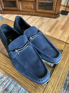 Stacy Adams Blue Suede Loafers 13W! Great! Make An Offer!