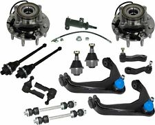 15pc Steering Suspension Kit Control Arm Tie Rod Ball Joint Sway Bar Link Hub
