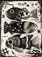 Inktober 2020 Promt Fish Original Melissa Bollen Ink Paper 11x14 Signed