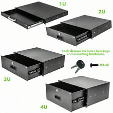 "Server Cabinet Case 19"" Rack Mount DJ Locking Lockable Deep Drawer with Key"
