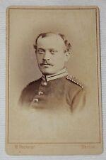 ORIGINAL PRE WWI, 1800'S GERMAN ARMY SOLDIER CDV PHOTOGRAPH, CARTE DE VISITE