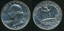United States, 1987-P Quarter, 1/4 Dollar, Washington - Uncirculated