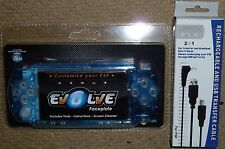 SONY PSP SLIM CONSOLE FACEPLATE FRONT FASCIA MOD KIT Crystal Clear Blue NEW! USB