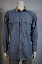 7977d718ca Banana Republic Men s SMALL Oversized Fit Denim Blue LS Button Up Shirt