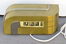 K.E.M. WEBER Streamline Art Deco Digital Plug-In Clock, Designed in the 1930's