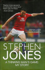 STEPHEN JONES LLANELLI WALES LIONS RUGBY BIOGRAPHY BOOK 2009 WITH SIMON ROBERTS