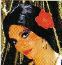 Perruque longue Carmen Espagnole brune fleur 6006 DEGUISEMENT flamenco  samantha