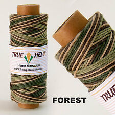 Hemp Cord Variegated FOREST Color 20lb 1mm 205feet/62m 50gram Spool