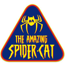 "The Amazing Spider-Cat car bumper sticker decal 4"" x 4"""