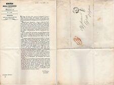 LETTERA 1851  AL SINDACO DI BEINASCO DECRETO PER UNIFORMITA' PESI E MISURE