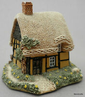 Lilliput Lane Figurine 1990 Buttercup Cottage by David Tate UK Label Retired Vtg