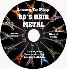 80's Hair Metal Guitar TABS Tablature Lesson CD: Windows,Linux,MAC 2700+ Songs!