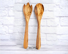 Sale! Handcrafted Olive Wood  Salad Servers Set of 2: Spoon & Spork