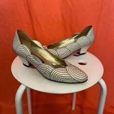 1980s Neiman Marcus White Scalloped Heels