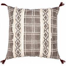 Geometric Kilim Decorative Embroidered Cotton Print Cushion Pillow Cover 18x18