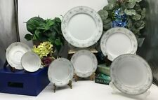 Noritake China 6107 Colburn 7 Piece Place settings, Serving Bowls, Cup & Saucer