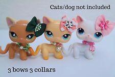 For Littlest pet shop accessories LPS clothes 3 bow 3 collar Random NO LPS