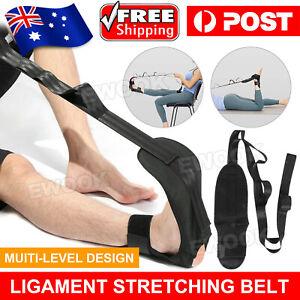 Yoga Stretching Strap Ankle Ligament Stretcher Belt Band Foot Drop Strap AU