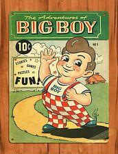 "TIN SIGN ""Big Boy"" Burger Restaurant Kitchen Ad Poster Kids Decor"