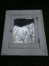 White Wood Medicine Cabinet Bathroom Vanity Cupboard Farm House Vintage Mirror