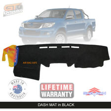 BLACK DASH MAT for TOYOTA Hilux 150 Series SR5 SR KUN26R 2/2005-6/2015 DM978