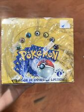 Vintage - POKEMON Base Set, First 1st Edition *Spanish* EMPTY Booster Box