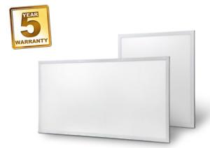 LED Panel Light Recessed White Frame, 1200x600mm, 60Watt, Natural White