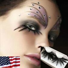 bef49a290a0 US False Eyelashes Fashion Exaggerated Drama Stage Dressing Party Feather  Lashes