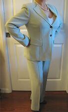 Women's Anne Klein New York Petite Collarless Wool Pants Suit 6P, Jacket 12P